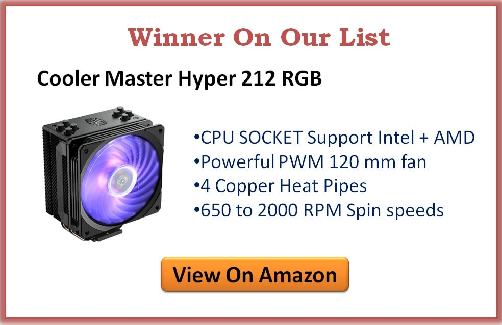 Best Affordable CPU Coolers under 50 Dollars for Intel & AMD