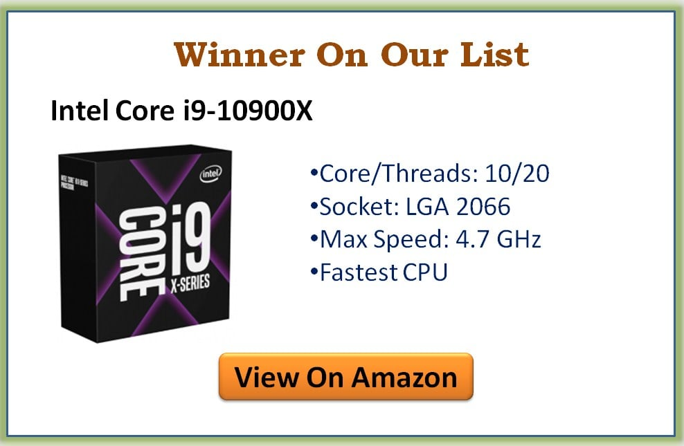 Best CPUs with Single-Core Performance