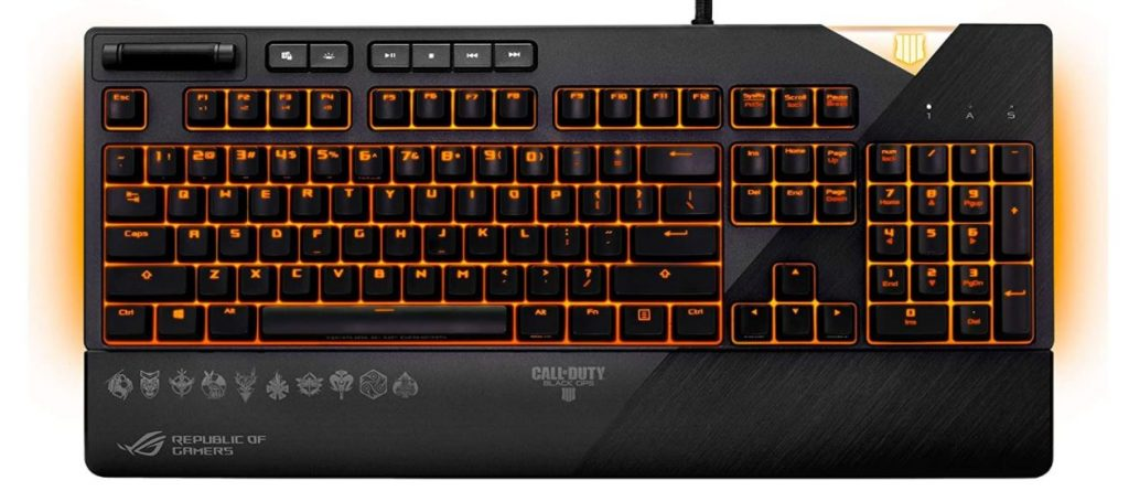 Best Valued RGB light mechanical keyboard from ASUS