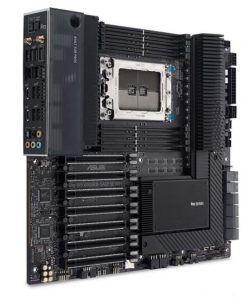 you can install two AMD Threadripper CPUs on this mobo
