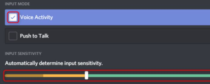 Adjusting the microphone in discord to remove keyboard noise in recordings