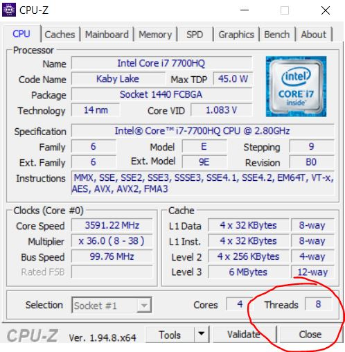 Third-party software to check the specification of your processor